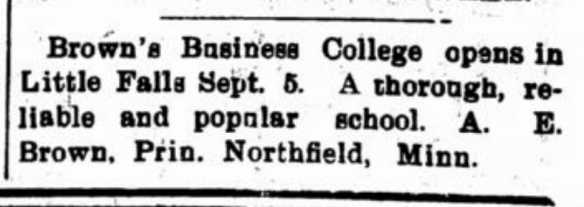 Browns Business College 1904