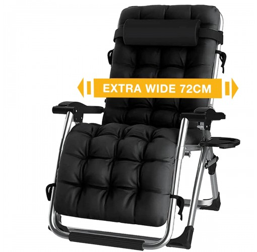 reclining zero gravity chair with cup