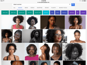 Google search results for Black women