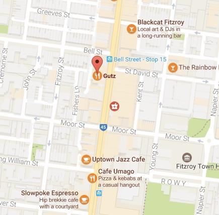 Gutz Cafe Map