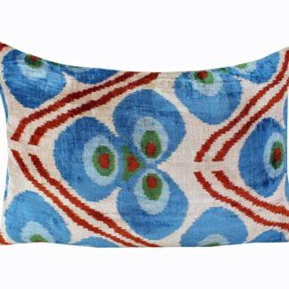 Silk Velvet Ikat Pillows