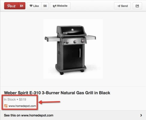 Pinterest Product Rich Pin