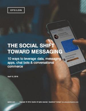 Social Shift Toward Messaging