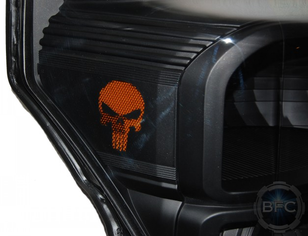 Ford F350 Superduty All Black Punisher Skull Hid