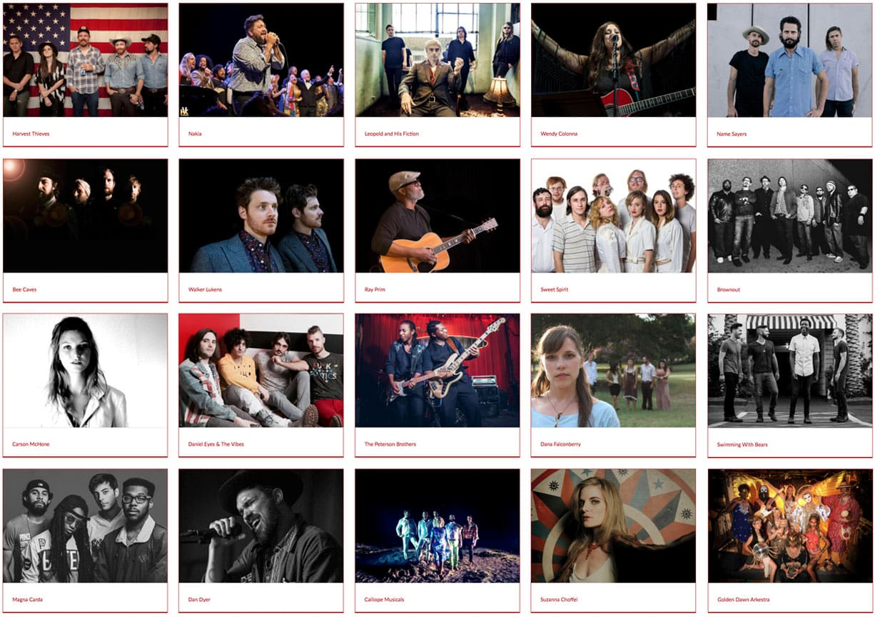 2016 Artists