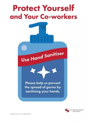 use hand sanitiser at work