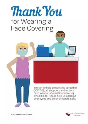 thank you for wearing a face covering