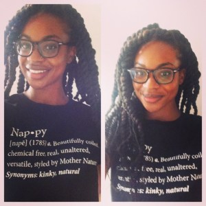 Proud wearing my Global Couture Nappy Tee.