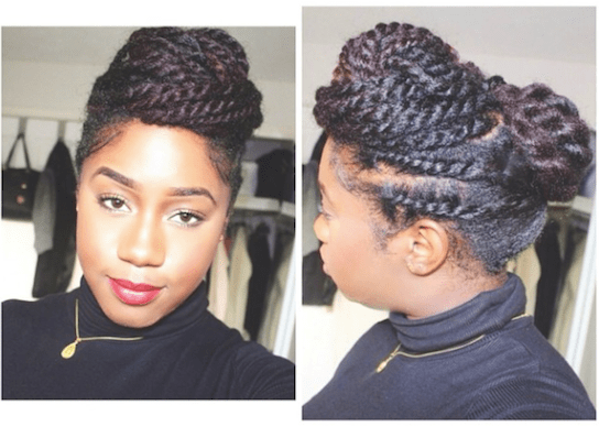 5 Simple Styles For Medium-Length To Long Kinky Natural