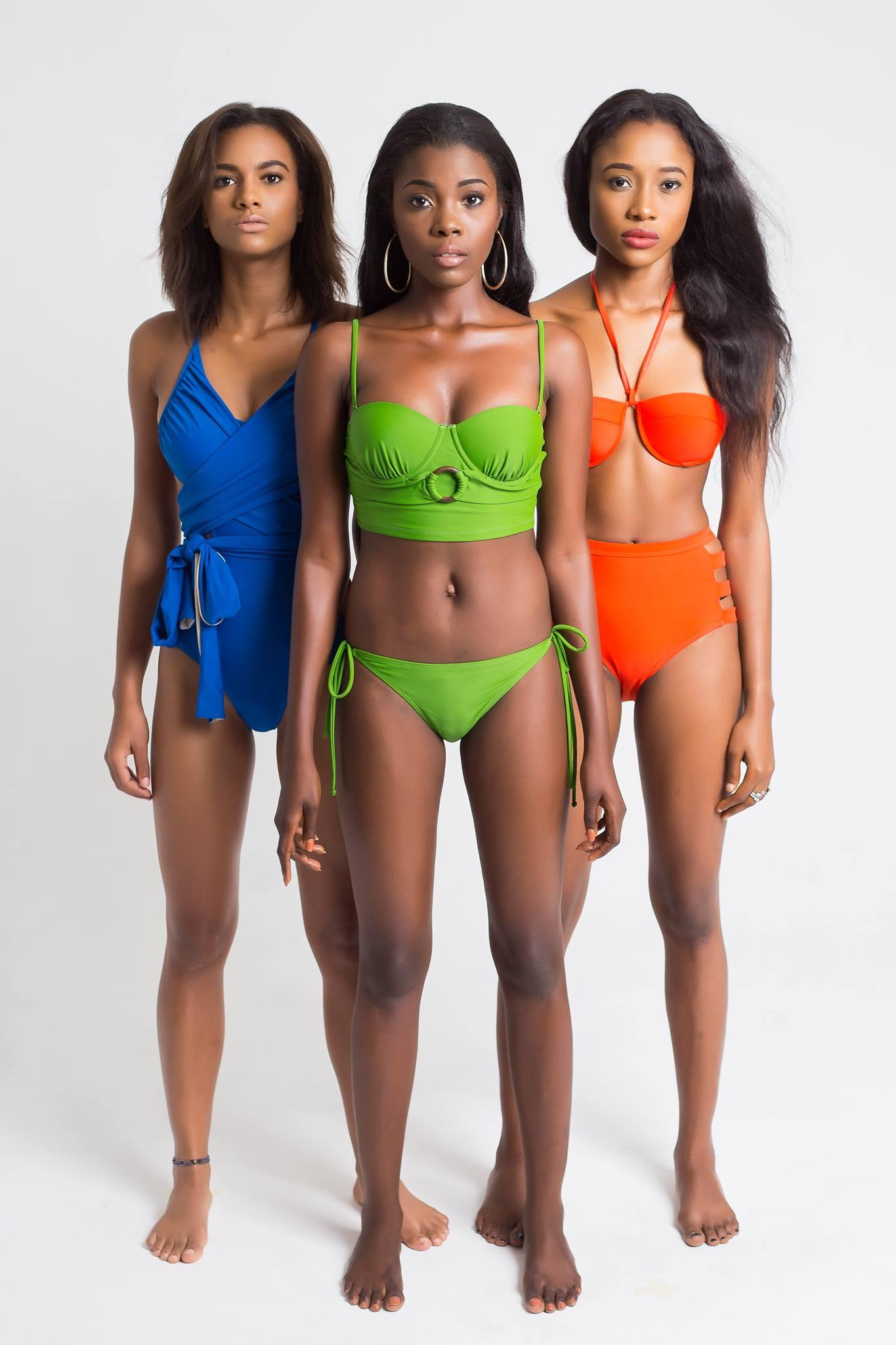 in bikinis chicks Black