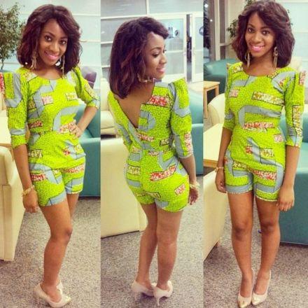african print short jumpsuit