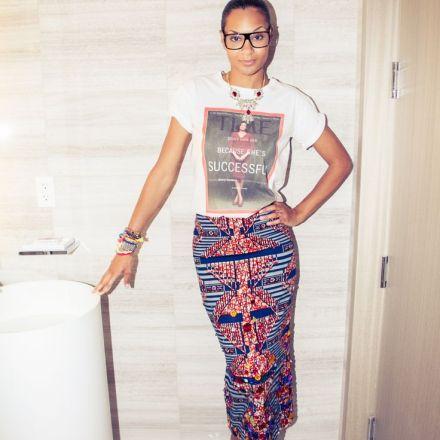 african print straight skirt
