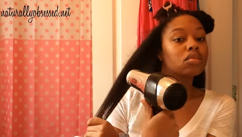 Image result for tension blow dry natural hair