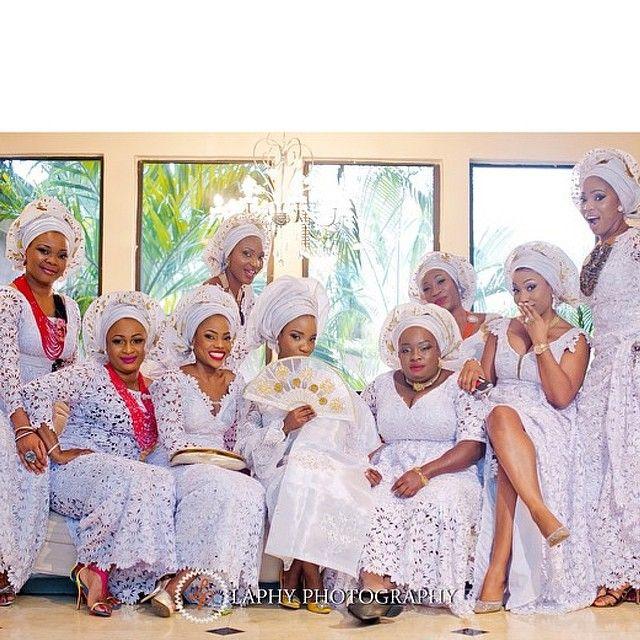 Photo Gallery Nigerian Wedding: 10 Gorgeous Photos Of Nigerian Aso-Ebi (aka Bridesmaids