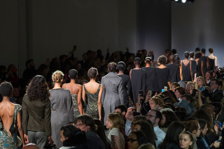 The end of Zac Posen's show. Image Credit: Daniele Oberrauch