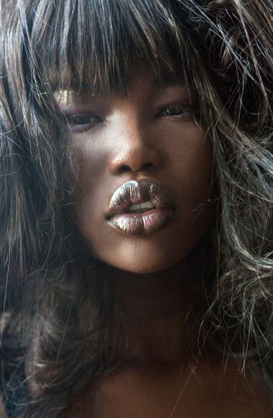 full bush light skinned black female