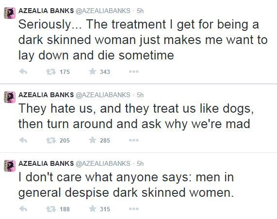 azealia banks comments on dark skin
