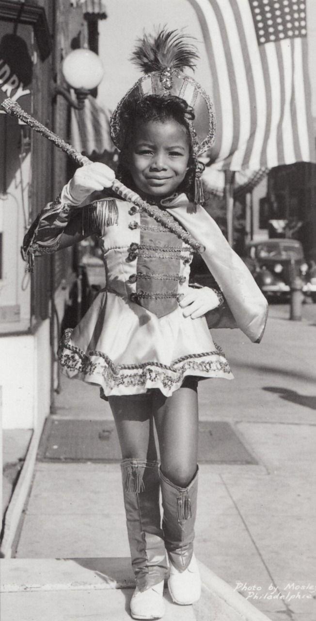 black girl majorette vintage
