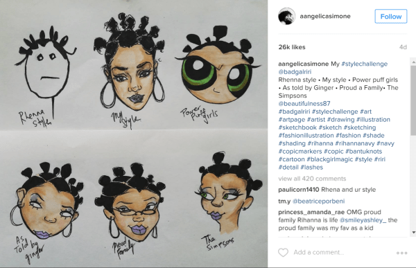 cartoon drawing styles pics 17 year black artist creates viral challenge to 7207