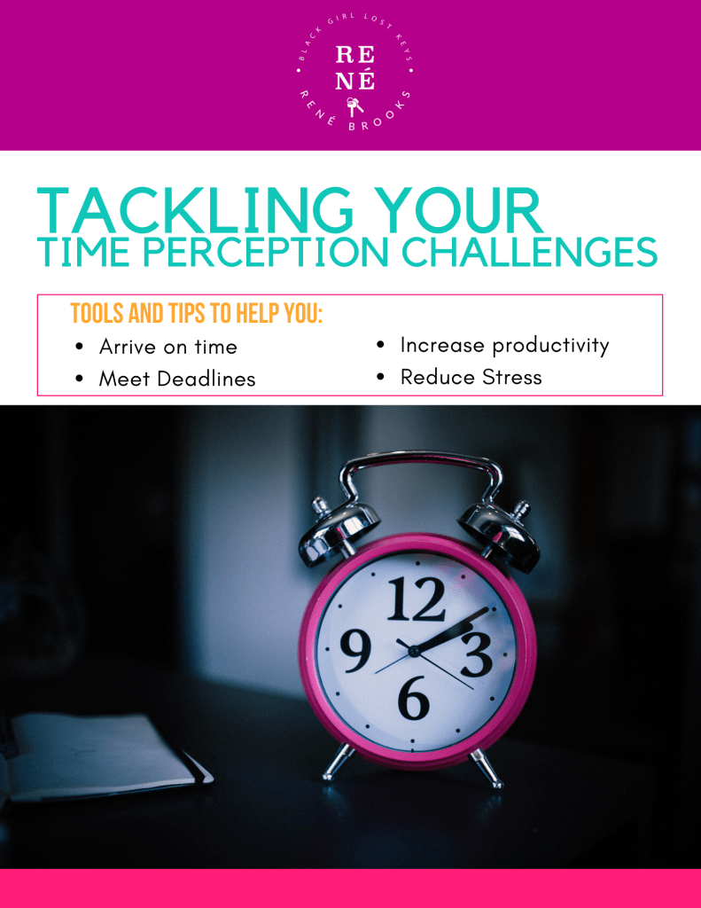 "Book cover with text ""Tackling Your time Perception Challenges"""