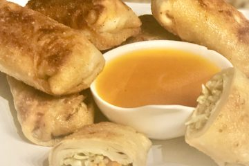 Egg Rolls with Duck Sauce