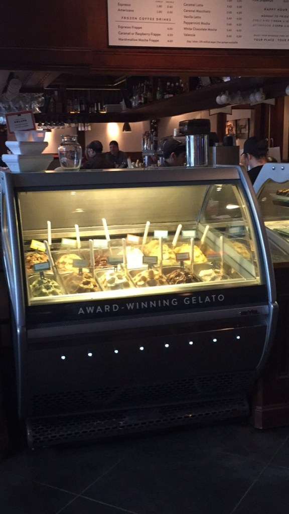 Oh and there is gelato! I will have to stop back by to try it.