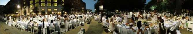 Ryan took this amazing panoramic picture of the event. There I am in the middle on the phone LOL
