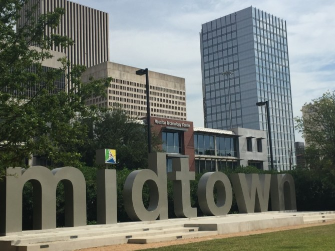 Midtown, a popular area for bars in Houston.