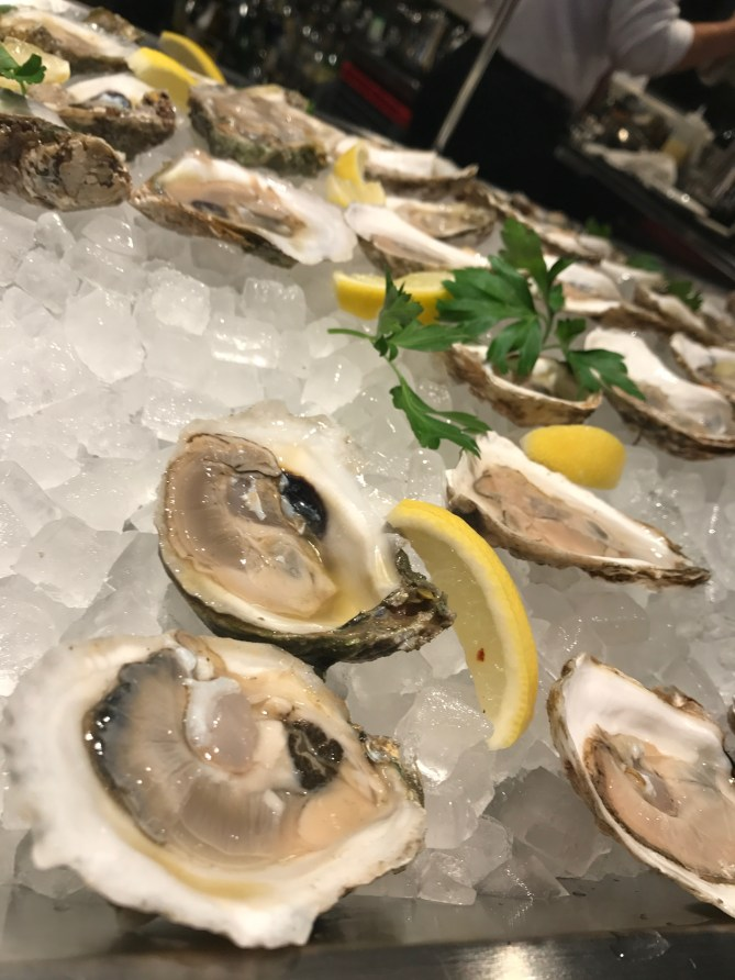 An oyster bar for the appetizer course.