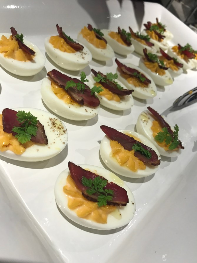 Some of the prettiest deviled eggs ever!