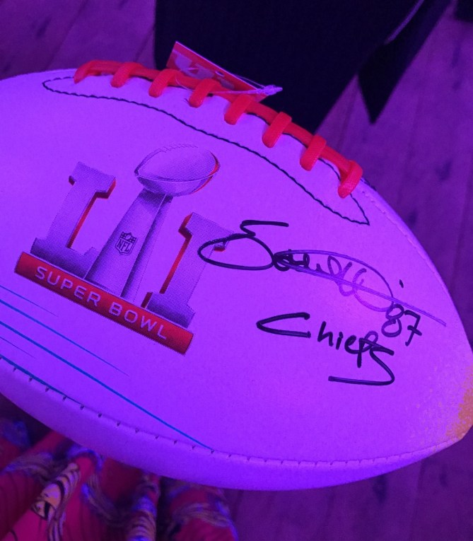 First signature on my autograph ball.