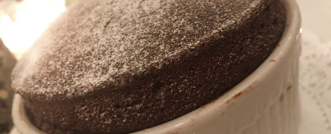 Dinner at La Table- Chocolate Souffle