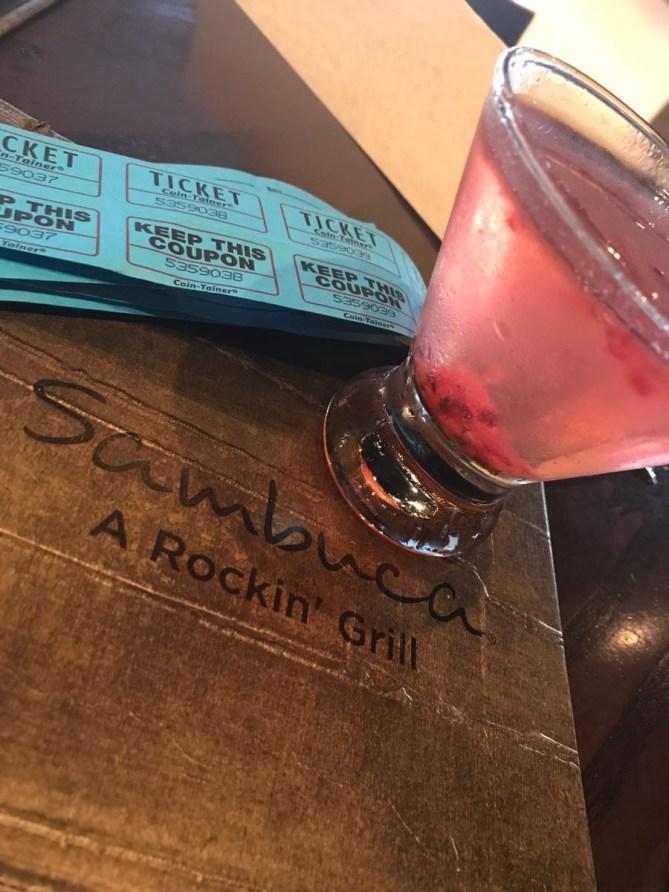 My Sambuca 75, fruity and champagne? I am SOLD.