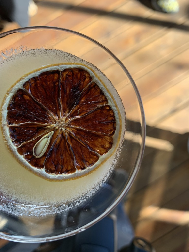 Lost & Found- The Sidecar Cocktail with a lemon garnish