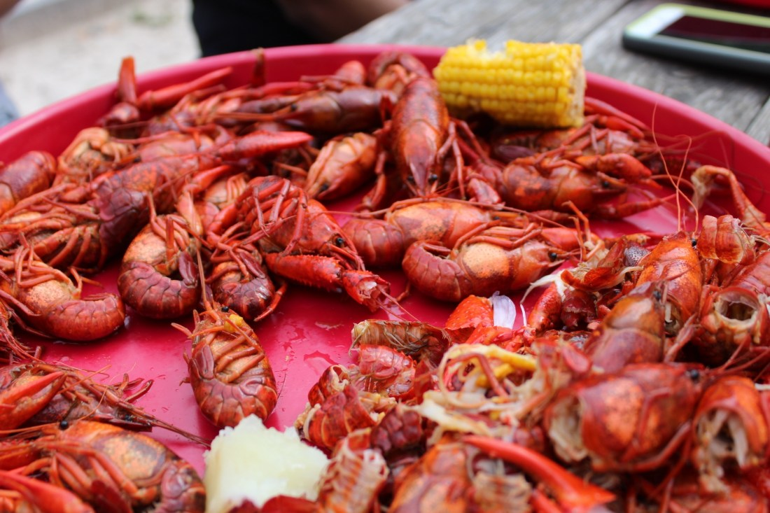 Red Platter of Crawfish