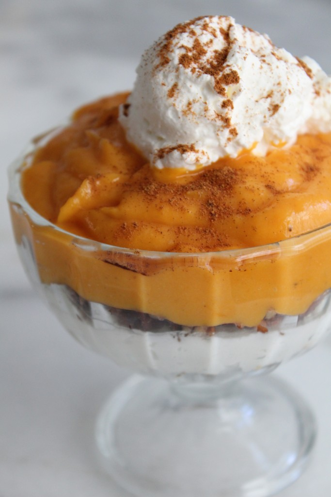 Closeup of Sweet Potato Trifle