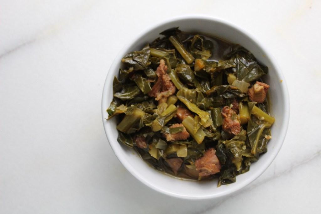 Bowl of Smoked Collared Greens