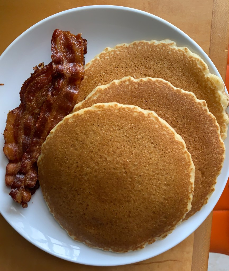 Pancakes with bacon from the Funky Brunch
