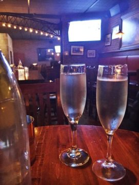 restaurant champagne glasses