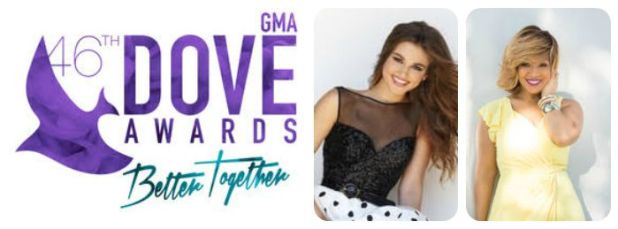 Sadie Robertson & Erica Campbell HOST 46TH ANNUAL GMA DOVE AWARDS