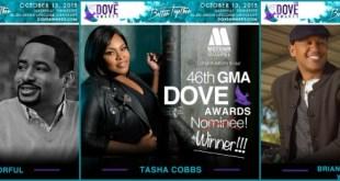 Motown Gospel - 46th Annual Dove Award Winners (Smokie Norful, Tasha Cobbs, Brian Courtney Wilson)