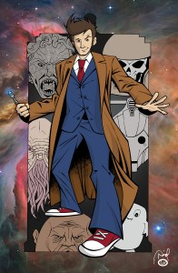 """The Tenth Doctor"" print"