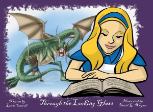 """""""Through the Looking Glass"""" book illustration"""
