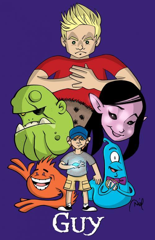 """Guy"" Nickelodeon pitch art"