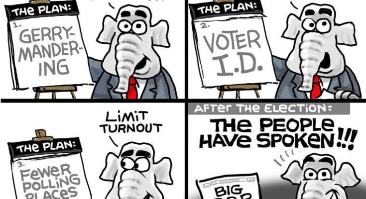 Image result for CARTOONS GERRYMANDERING