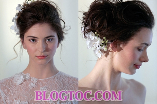 The beautiful hairstyles with the bride's accessories are judged by experts to thrive in the near future.