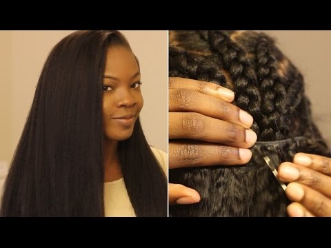how to put in a sew in weave on yourself most natural looking video black hair information