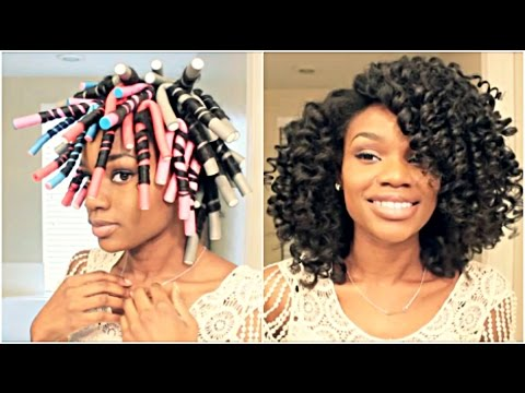 Natural Hair Flexi Rod Set For BIG HYDRATED CURLS Video