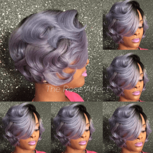 pretty color via the rose affect black hair information