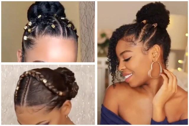 not your ordinary bun - beautiful bun hairstyles for black